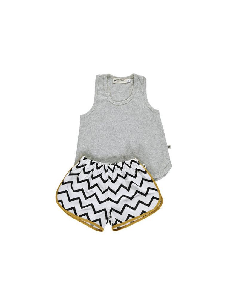 Nobodinoz Bali girl short pyjama - zig zag black