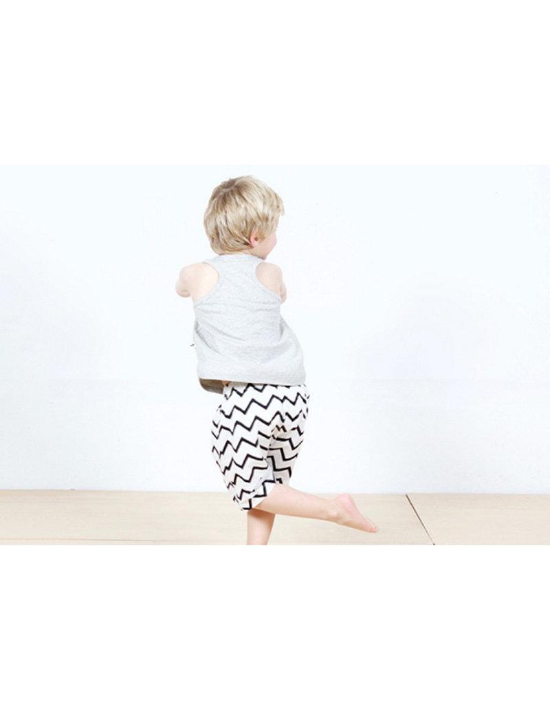 Nobodinoz Bali boy short pyjama - zig zag black
