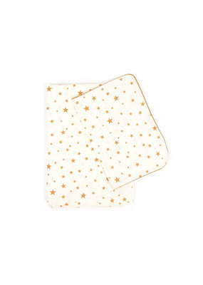 Nobodinoz Dekbedovertrek junior - mustard stars