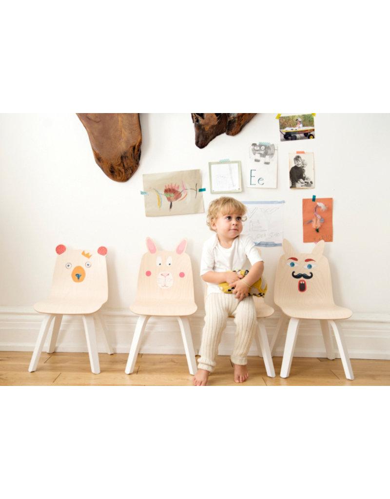 """Oeuf NYC Set van 2 kinderstoelen """"konijn"""" - walnoot"""