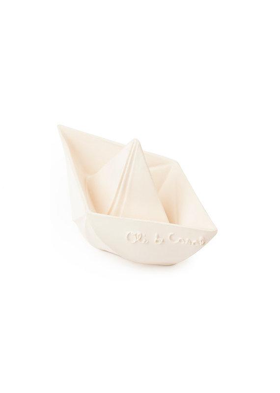 Oli & Carol Origami bootje - wit