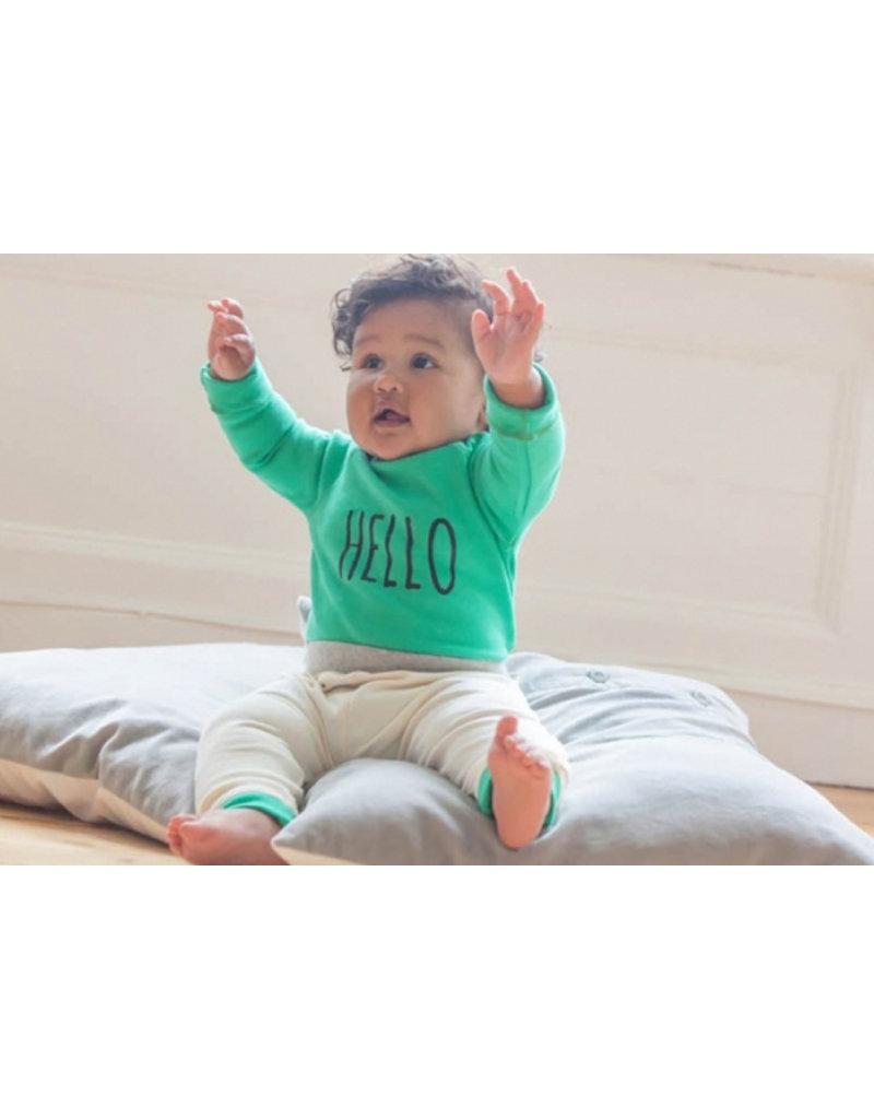 organicZOO Hello Sweatshirt - green