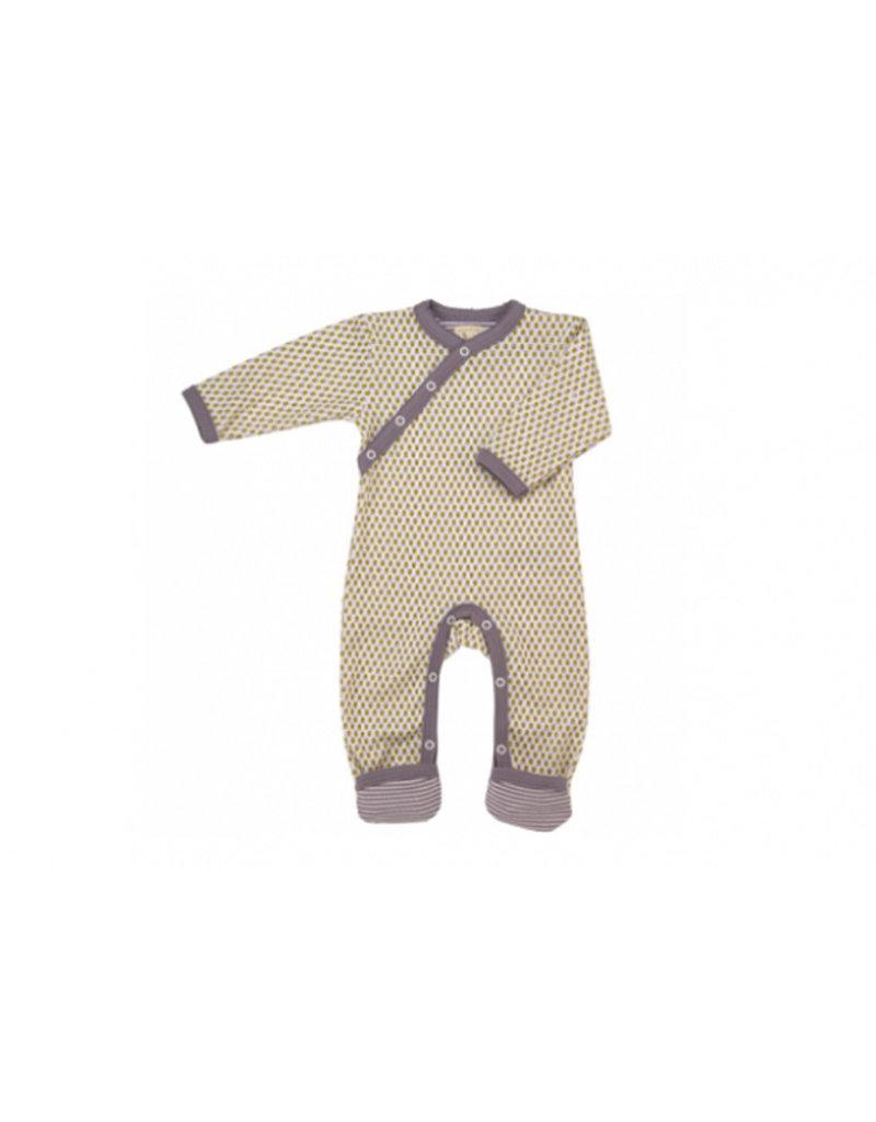 Pigeon Romper Ditsy lavendel/geel Newborn