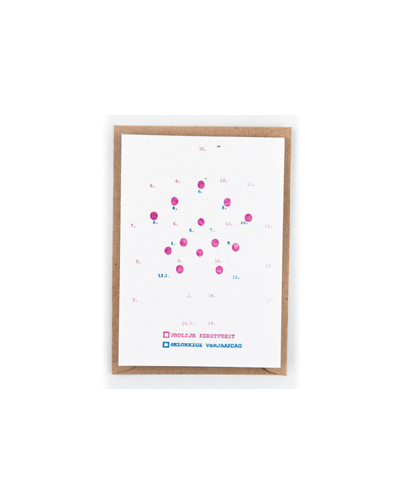 Studio Flash Greeting card - connect the dots