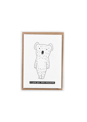Studio Flash Greeting card - koala