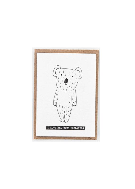 Studio Flash Greeting card - koala