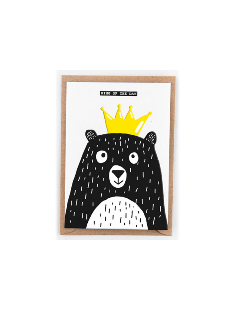 Studio Flash Greeting card - king of the day