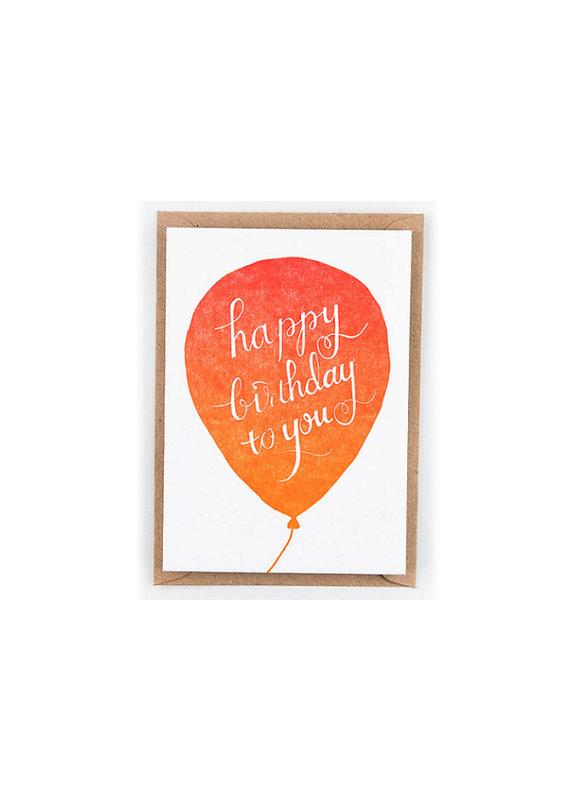 Studio Flash Greeting card - rode ballon