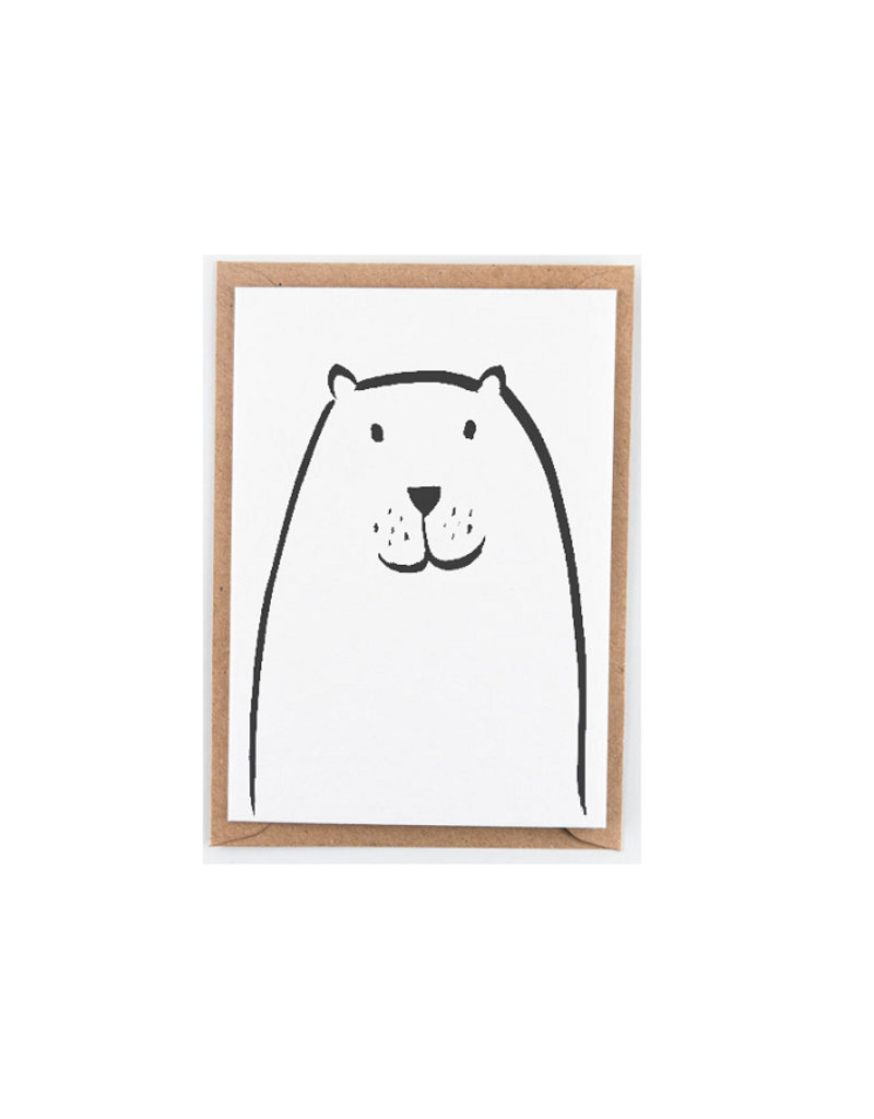 Studio Flash Greeting card - walrus