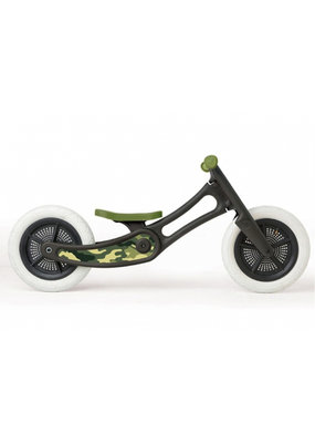 Wishbone bike Coole sticker - camo groen