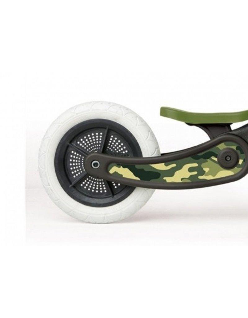 Wishbone bike Coole sticker - camo groen