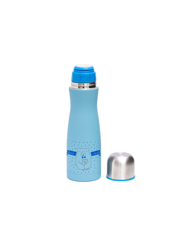 Suavinex Thermosfles Meaningfull life - blauw
