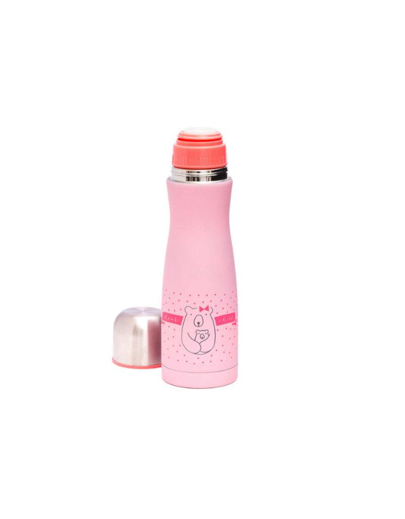 Suavinex Thermosfles Meaningfull life - roze
