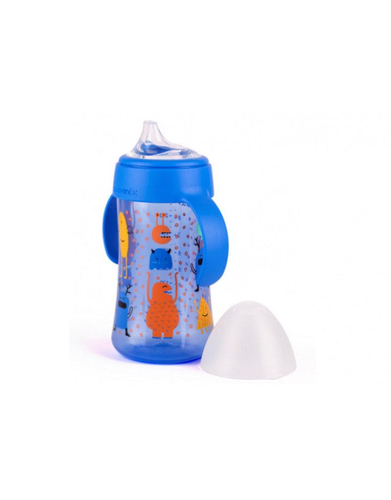 Suavinex Booo fles met handgrepen (270 ml) - blauw