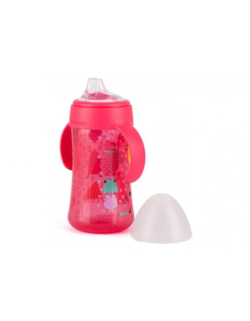 Suavinex Booo fles met handgrepen (270 ml) - roze