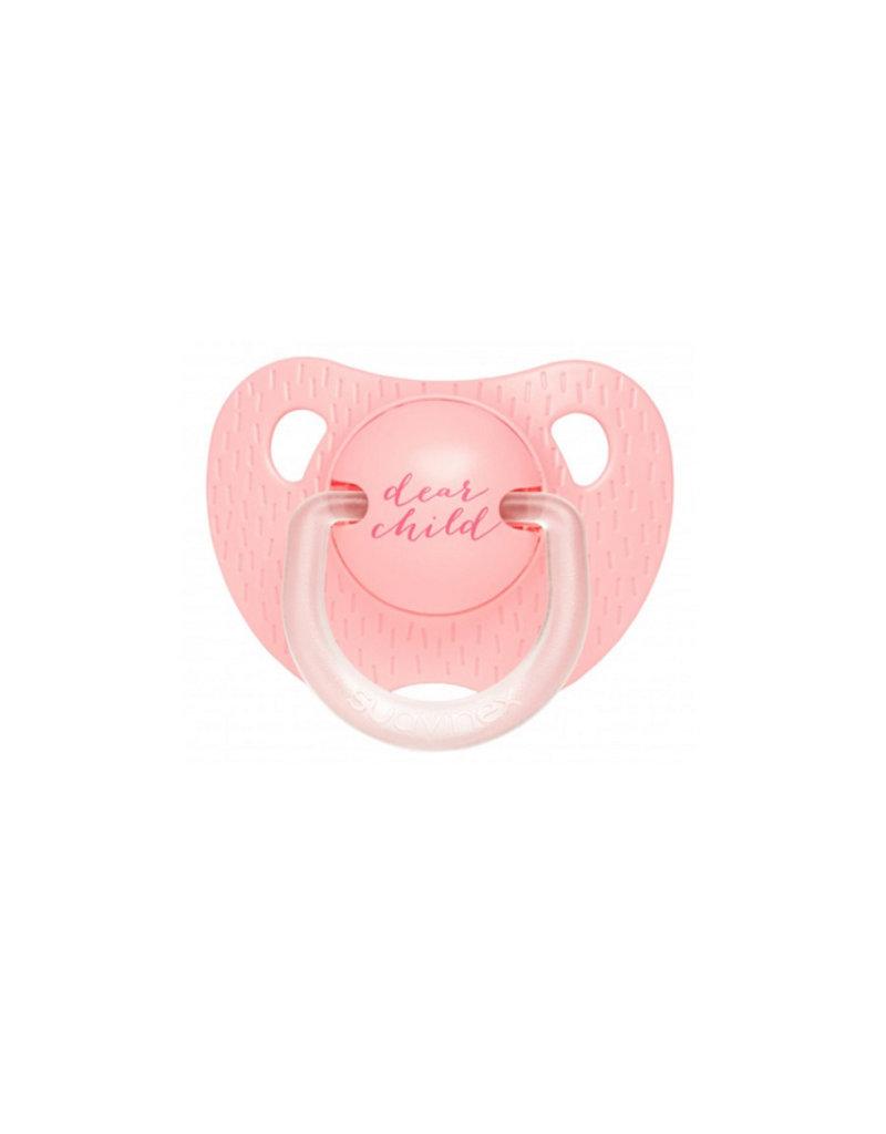 Suavinex Fopspeen evolution anatomisch sillicone 2017 - dear child roze