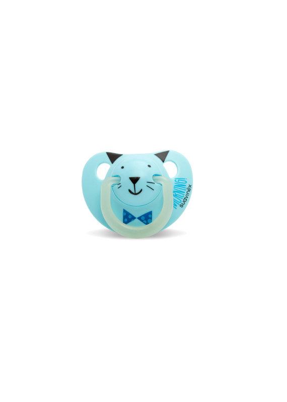 Suavinex Glow in the dark silicone 0-6m - blue cat