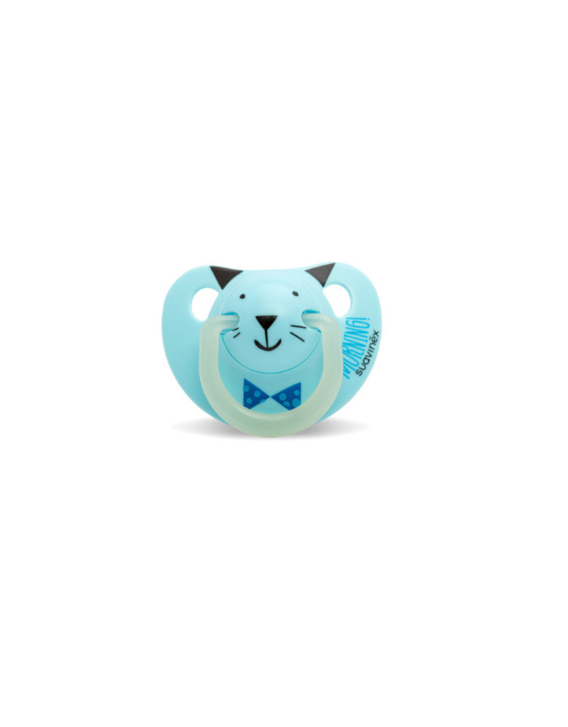 Suavinex Glow in the dark silicone 0-6m - blue cat