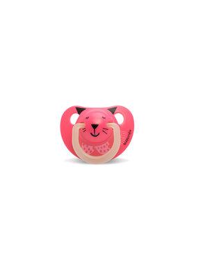 Suavinex Glow in the dark silicone 0-6m - pink cat