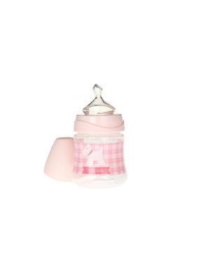 Suavinex Flesje anatomisch silicone M flow 150 ml - pink ruit