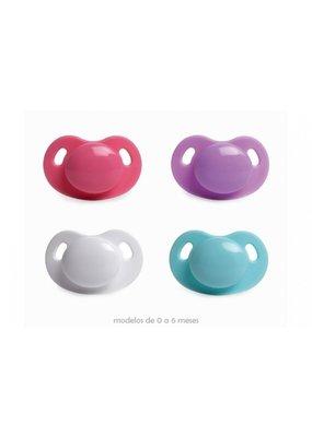 Suavinex Dental fopspeen silicone 0-6m - paars