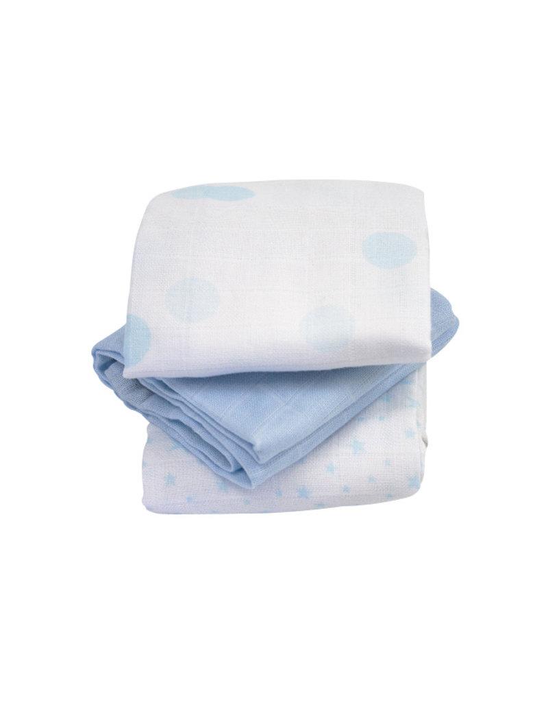 Kadolis Hydrofiel doeken blauw | set van 3