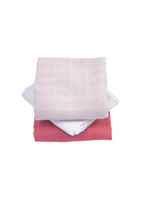 Kadolis Hydrofiel doeken roze | set van 3