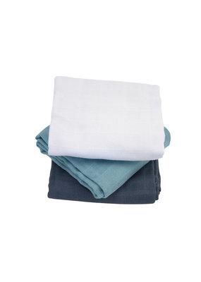 Kadolis Hydrofiel doekenblauw uni | set van 3