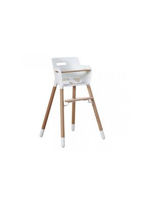 Flexa Baby Kinderstoel met veiligheidsbeugel - wit/blank gelakt