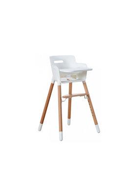 Flexa Baby Kinderstoel met tafelblad - wit/blank gelakt