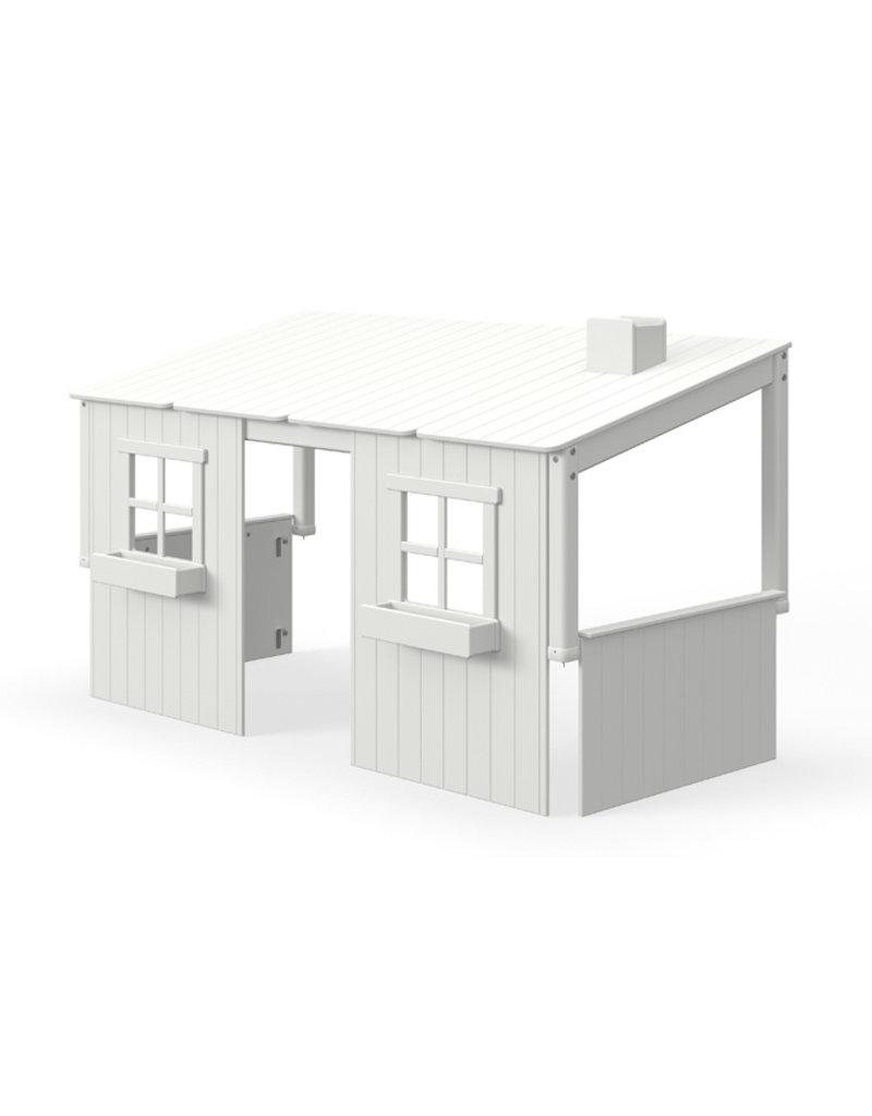 Flexa Half Classic Huis met 2 vensters - White washed