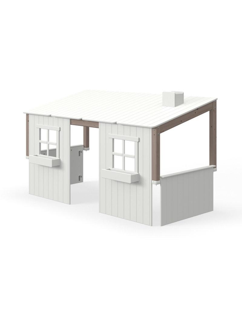 Flexa Half Classic Huis met 2 vensters - Terra/wit