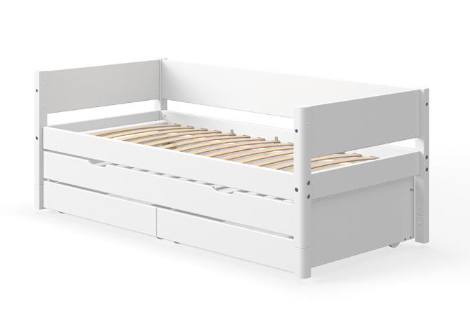 Welp White bedbank met onderschuifbed en lades - wit - Villa Kakelbont RV-34