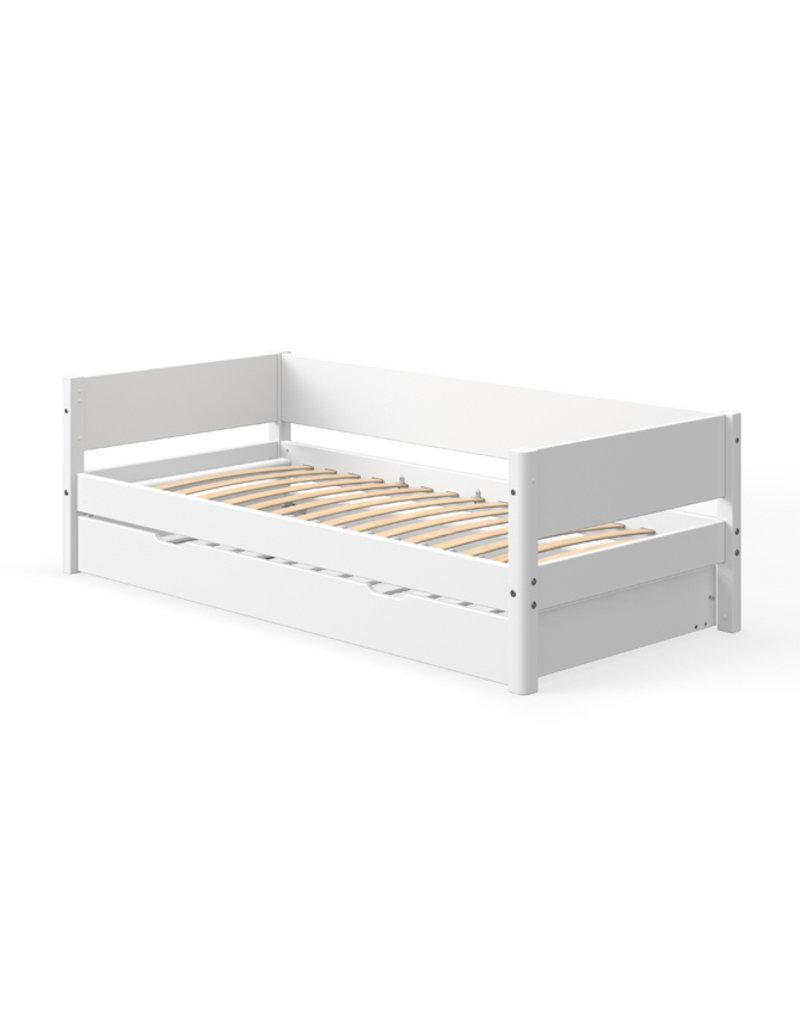 Flexa White bedbank met onderschuifbed - wit