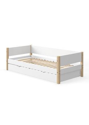 Flexa White bedbank met onderschuifbed - blank gelakt
