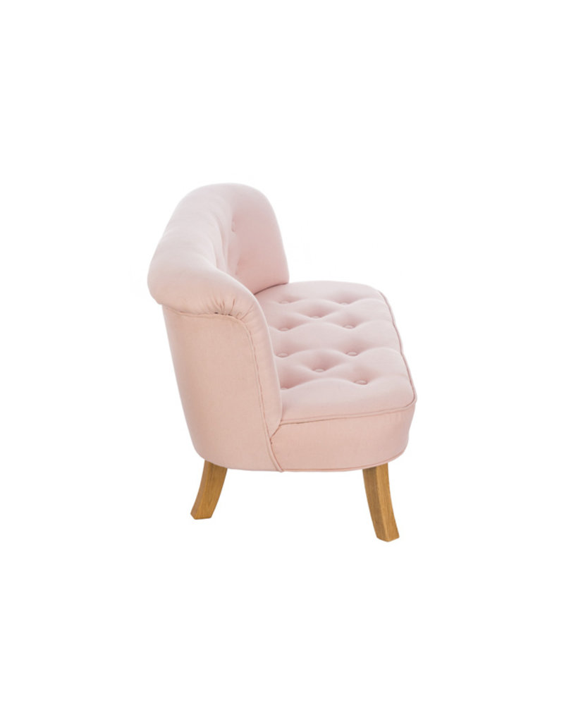 Somebunny Kindersofa Eco Linen | Powder Pink