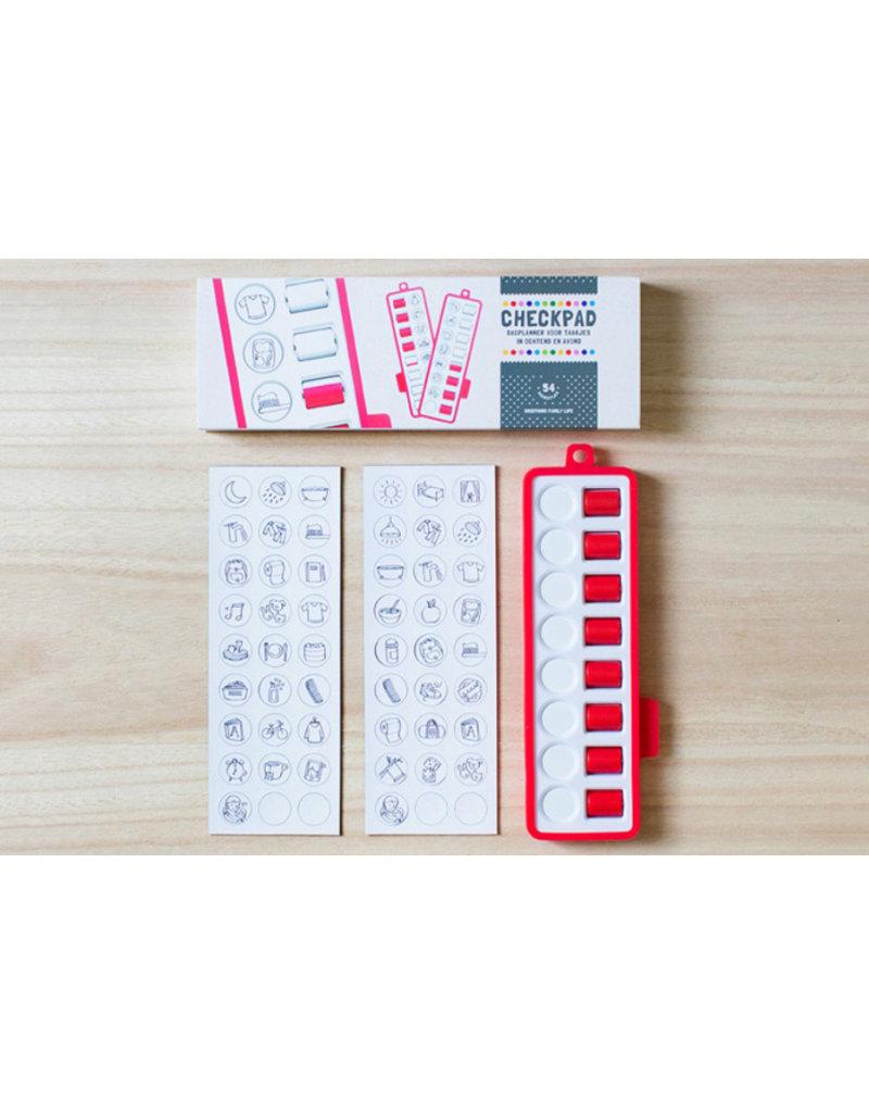 Gezinnig Checkpad | rood