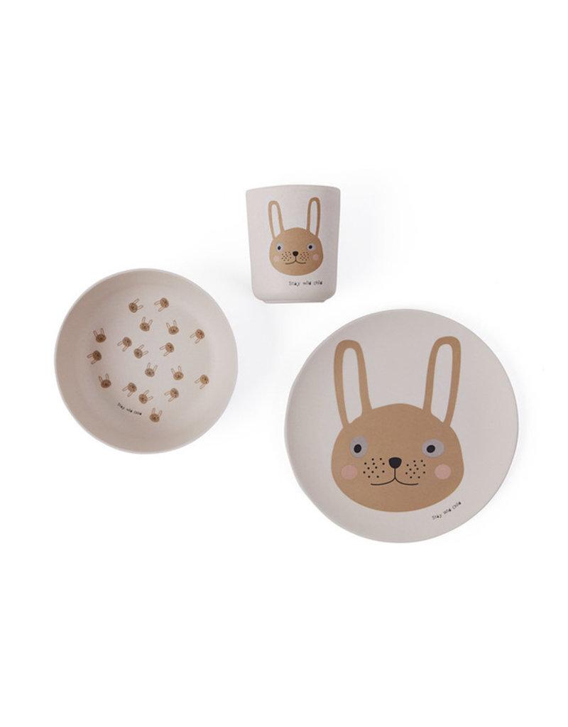 OYOY Bamboe kinderservies | Rabbit