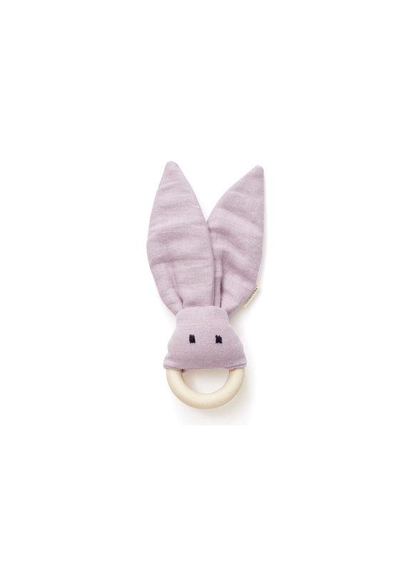 Kid's Concept Bijtring linnen | roze