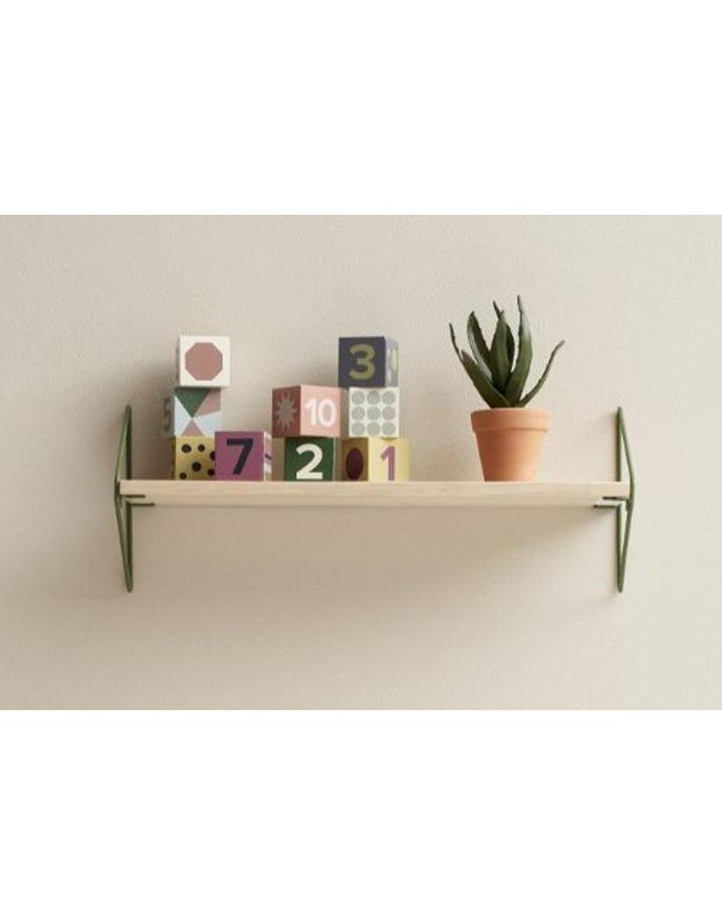 Kid's Concept Wandplank hout/metaal | groen