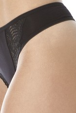 Swaens Bamboo Underwear Thong Black - set of 3