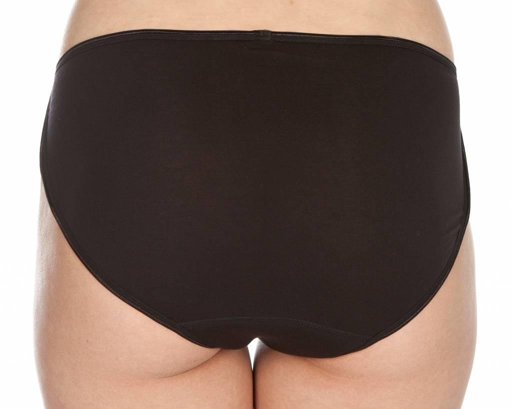 Swaens Bamboo Underwear Midi Zwart - Midi 5 zwart