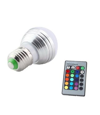 LED Bollamp RGB - 3 Watt - E27