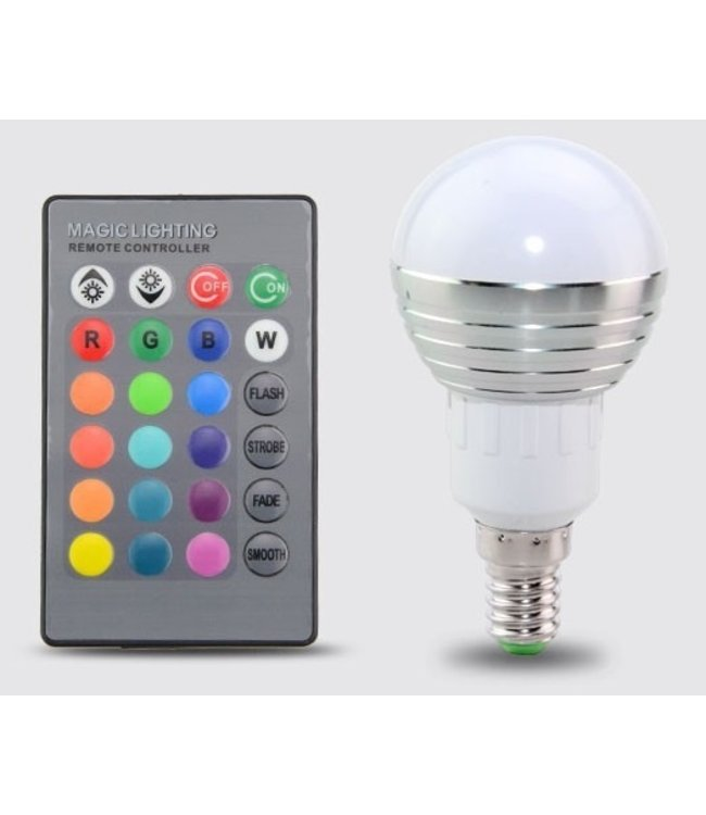 LED Bollamp RGB - 3 Watt - E14