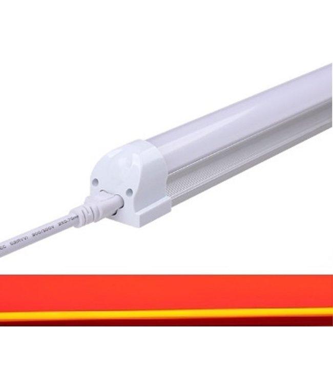 TL LED Buis Rood - 9 Watt - 60 cm - Met Armatuur
