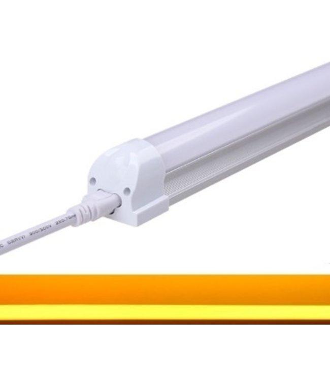 TL LED Buis Geel - 9 Watt - 60 cm - Met Armatuur