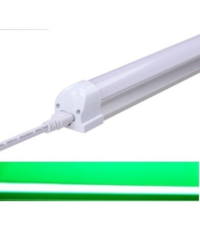 TL LED Buis Groen - 18 Watt  - 120 cm - Met Armatuur
