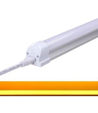 TL LED buis Geel - 24 Watt  - 150 cm - Met Armatuur