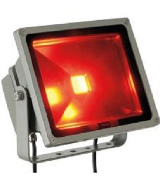 LED Bouwlamp Rood- 50 Watt