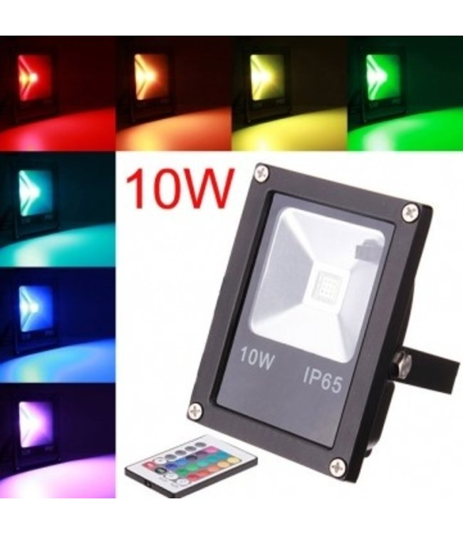 LED Bouwlamp RGB - 10 Watt - Plat